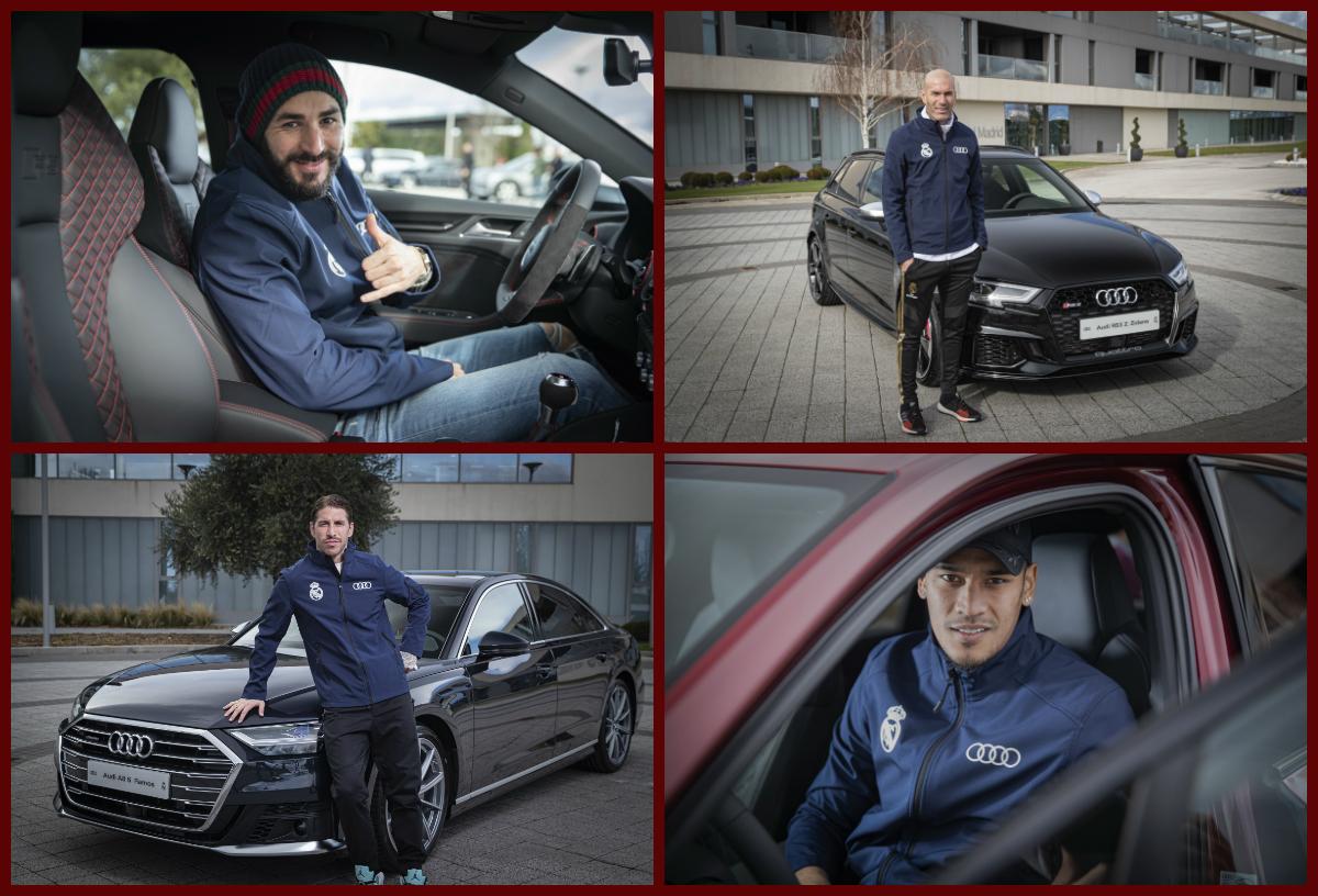لاعبي ريال مدريد يستلمون سيارات اودي جديدة – صور جميع اللاعبين